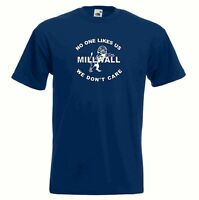 Millwall FC Nobody Likes Us Dundee Blue Navy Football T-Shirt - All Sizes
