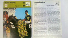 SEATTLE SLEW Sportscaster card #60-20 HORSE RACING 1977