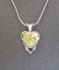 made withSWAROVSKI YELLOW AB CRYSTAL ELEMENT NECKLACE  PLATINUM PLATED