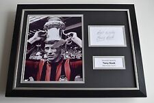 Tony Book SIGNED FRAMED Photo Autograph 16x12 display Manchester City AFTAL COA