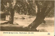 CHELTENHAM(Gloucestershire): Pitville Bridge & Lake -M.J.S.