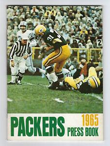 1965 Green Bay PACKERS PRESS BOOK Media Guide Jim Taylor Near Mint Lombardi Era
