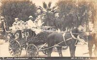 <A3> CALIFORNIA Ca Postcard RPPC c1910 PASADENA Rose Tournament Parade FLOAT 2