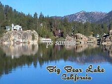 California - BIG BEAR LAKE - Flexible Travel Souvenir Fridge Magnet