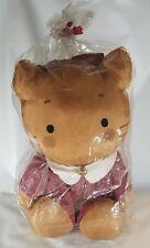 "WinkiPinki Sanrio Character Nylon 22"" Plush Red Plaid Dress Bell Vintage Kitty"