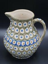 alt Krug Kanne Henkelkrug Bunzlau Keramik 1900
