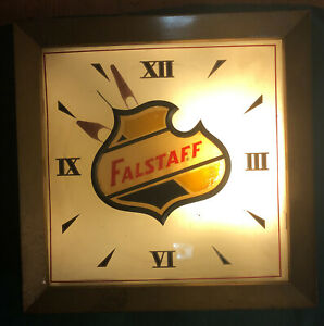 Vintage Falstaff Lighted Beer Clock