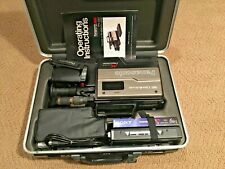Panasonic OmniMovie Pv-220D Vhs Hq Video Camcorder w Hard Case All Accessories
