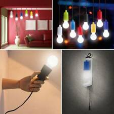 Portable Battery Operated LED Light Bulb On A Rope Pull Cord Reading Lamp UK Hot