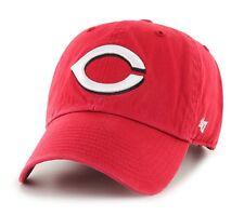 Cincinnati Reds 47 Brand Red Clean Up Adjustable On Field Cotton Hat Cap MLB