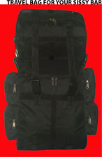 MOTORCYCLE T BAG TRAVEL LUGGAGE SISSY BAR BAG  OUTSIDE AND  LINED