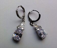 Swarovski Element Kristall Klar Ohrringe in Silber Top elegant