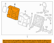 GMC GM OEM 17-18 Acadia Rear Seat-Seat Cover-Top Back 84134846