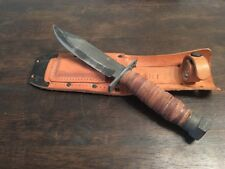 CAMILLUS CUTLERY CO. | OSHI | PILOT SURVIVAL KNIFE VINTAGE! | STEEL & LEATHER