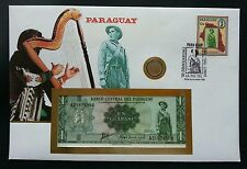 Paraguay Chago Soldier 1985 FDC musical instrument (banknote coin cover) *rare
