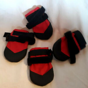 """ULTRA PAWS Dog Boots, Red & Black, Sole.3.5"""" (tag says S, seems like L)  NWOT"""