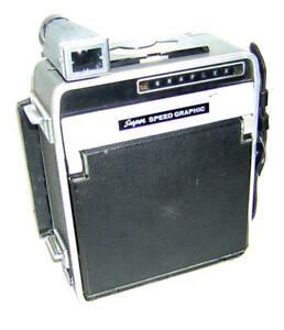 Vintage 4 x 5 Super Speed Graphic w/EKTAR Lens In Synchro Compur Shutter