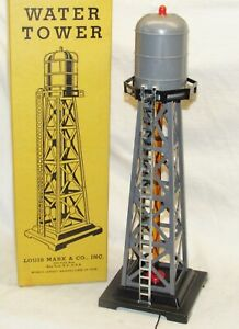 Vintage Marx No. 0465 Water Tower in Original Box O Gauge NEW