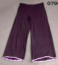 Purple Wide Leg Cotton/Lycra Trouser - New made 1990's Medium - ONE OFF SAMPLE