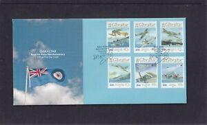 Gibraltar 2008 RAF 90th Anniversary aircraft spitfire hurricane lancaster FDC