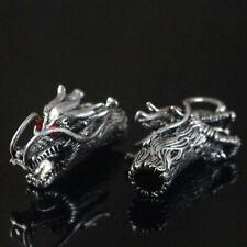 Connect Caps Tibetan Silver Bracelet Tube Jewelry Accessory Antique Dragon