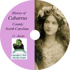 CABARRUS County North Carolina NC - History Genealogy Kannapolis -11 Book CD DVD