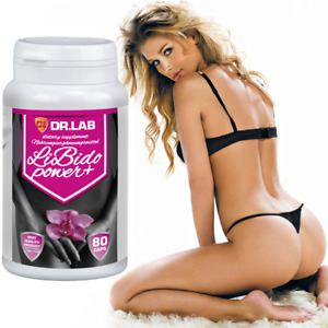 LIBIDO POWER+ Long Harder Sex Extreme Strong Orgasm Be Horny Wet Pills for Woman