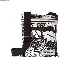NWT Dakine Inkell Jive Canvas Crossbody Purse Travel Bag Tote Black White