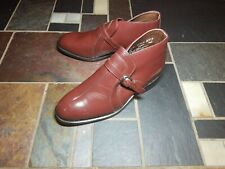 Vintage Sears Genuine Leather Monk Strap Ankle Chukka Boots, Men's 9 D