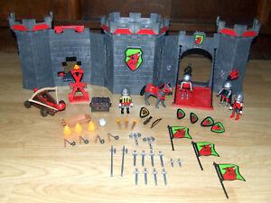 Playmobil 4440 Ritterburg, 3327 Roter Drache und viele Kleinteile