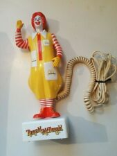 Vintage 1980s Ronald McDonald Phone Telephone Rare Collectible McDonalds Clown