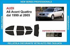 pellicole oscuranti vetri audi A6 Avant quattro dal 1999 al 2005 kit completo