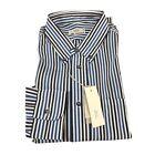 MAURO GRIFONI camicia uomo a righe 100 % cotone Thomas Mason MADE IN ITALY