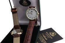 Freemason Personalised Gents Genuine Leather Watch FREE Masonic Custom Engraving