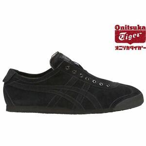 ASICS Onitsuka Tiger Shoes MEXICO 66 SLIP-ON D7L1L Black x Black With Tracking