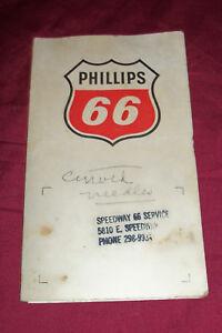 Old Phillips 66 Service Gas Filling Station Sewing Kit Vintage Giveaway Promo Ad