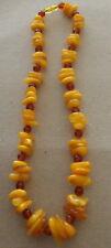 Antique Natural  butterscotch   Baltic Amber   Beads Necklace   63 gr 20.5*