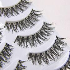New Fashion Crisscross Natural False Eyelashes Beauty Makeup Thick Eye Lashes 5p