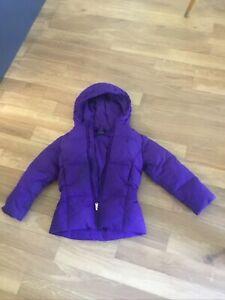 ralph lauren Girls Purple Jacket  Down & Feather Coat Age 6 Years 5/6