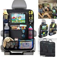 Universal Black Car Seat Back Protector Cover Kids Kick Bag Storage Protect F0L1