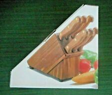 6 PIECE STEAK KNIFE SET WITH WOOD BLOCK(NEW)