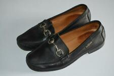 BLACK LEATHER RUSSELL & BROMLEY HORSEBIT SNAFFLE LOAFERS UK 4 EUR 37