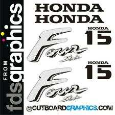 Honda 15hp four stroke outboard engine decals/sticker kit