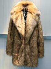 Mens Mid-Long Lapel Jacket Real Racoon Fur Clothing Winter Warm Thicken Coats sz