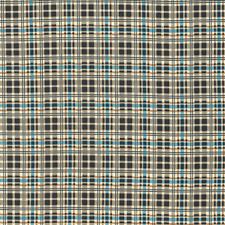 Plaid Blue Brown  By the yard cotton print Denyse Schmidt