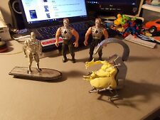LOT OF 4 ACTION FIGURES 2 TERMINATOR , 1-X-MEN MOJO EVIL MUTANT & SILVER SURFER