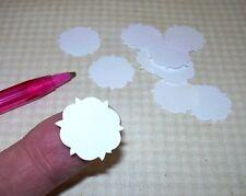"Miniature Round Doilies, Quantity of 10 - 3/4"" Diameter: DOLLHOUSE 1:12 Scale"