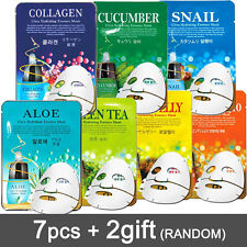 7+2pcs Facial Skin Care Face Mask Sheet Pack Essence Moisture Korean cosmetics