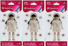 3 New Packs AMERICAN GIRL Bubble Epoxy Stickers! Winter Snowflake White Outfit