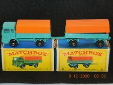 Mint in Boxes  MATCHBOX Lesney Mercedes Truck #1 and Mercedes # 2 Trailer